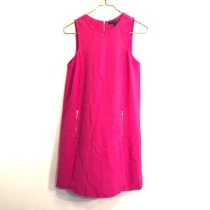 [One Clothing] Pink Zipper Pocket Dress - Small